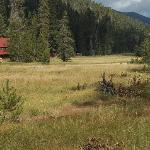 Drakesbad Lodge and meadow