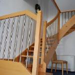 scala di accesso alla camera da letto