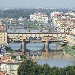 View of Ponte Vecchio from Plaza Michaelangelo