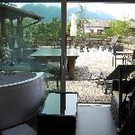 Terrasse und Whirlpool