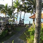 Blick vom Balkon des Sea View Jineng