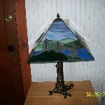 Adirondack lamp in our room
