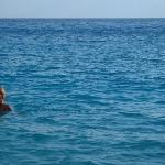 I finally got in the sea .. after a LONG climb down!