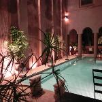 The pool and water feature wall