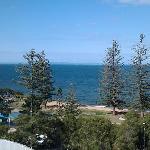 Balcony view accross the bay to moreton island