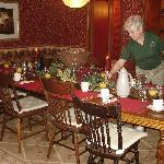 Mariann in the dining room