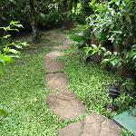 Waku path between bedrooms and lodge