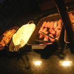 saucisses et poulet
