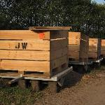 Apple carts ready for loading