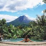 Villa Pool with Volcano View