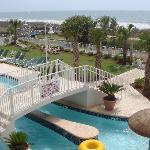 pool and beachfront