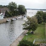 view from the nearby belverdere whcih overlooks the locks at sainte-anne-de-bellevue