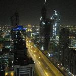 View from the master bedroom towards Sheikh Zayed Road at night