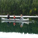 Canoes provided by the lodge