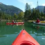 Kayaks provided by the lodge