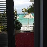 sea view through hotel door