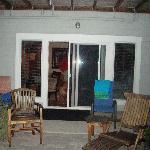 Patio facing room sliding glass door