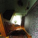 Treppe zu einem Zimmer