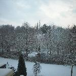 Wintry view from my Hotel Room
