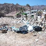 rubbish tip next to hotel.