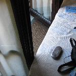 No room to open the balcony door