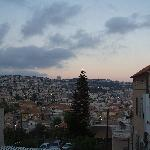view from the guesthouse over nazareth
