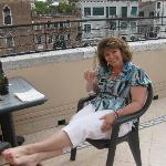 Enjoying the good life on the roof-top terrace