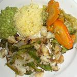 Lobster fajitas (280 pesos)--overcooked with little lobster