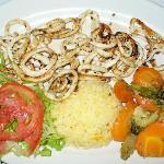 Grilled squid (120 pesos)