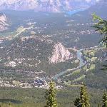wunderschöner Ausblick vom Mountain über Banff