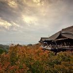 Kiyomizu Tempel mit Kyoto im Hintergrund