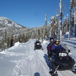 Snowmobiling at Selkirk Powder