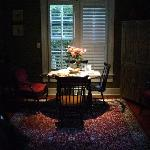 Our roses in the carriage house's living area.