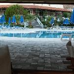 the beautiful pool area