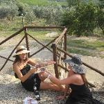 Having fun at Enzo Marinai's lovely winery