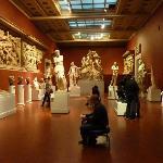 Room of plaster casts including Venus