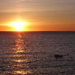lever de soleil de la terrasse de la chambre