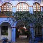 Main courtyard at Parador Santa Maria la Real