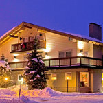 Mammoth Creek Inn exterior alpenglow