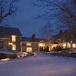 Chesterfield Inn Front Yard in Winter