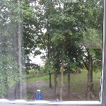 Blick vom Zimmer aus den See, leider schlechtes Wetter