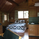bed inside cabin