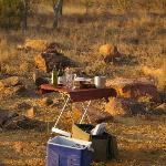 Drinks during Game Drive in the afternoon, heaven!