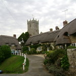 Thatched Cottages near Godshill Church