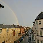 double rainbow after a shower looking south