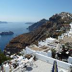 View from Balcony across caldera