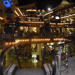 the shopping centre at night