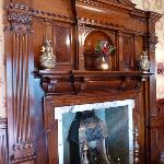 Magnificent fireplace in the dining room