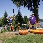 Teaching my daughter to Kayak