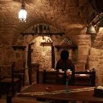 Breakfast nook/cave, former wine cellar